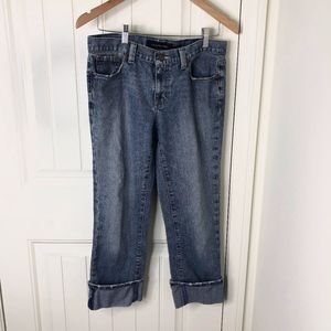 Calvin Klein Jeans Cropped Rolled Capris Inseam 24